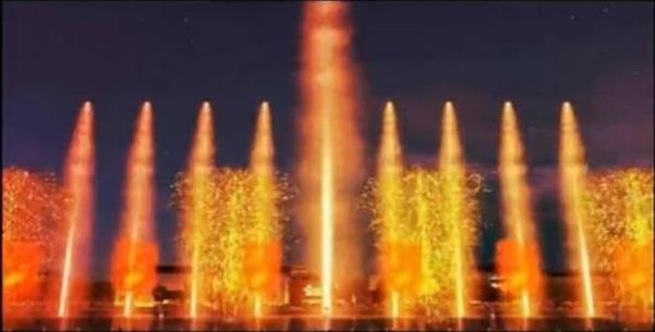 音乐喷泉欣赏 大家好运来