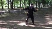 日本六合大槍爱好者的日常练习