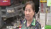 浏阳:大货车失控冲下陡坡 撞进民房撞毁一小车