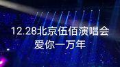 12.28北京五棵松伍佰演唱会《爱你一万年》