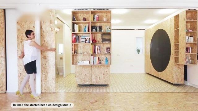 百变空间设计:德国35平小户型公寓,从此不再嫌家里面积小!