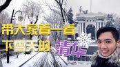 【生活小事 3】下雪的清华大学 | 超级漂亮!