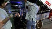 湖北男子交通事故中被四根竹子刺穿胸膛 幸运逃生