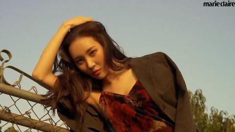 南韩腿精李宣美的Marie Claire写真