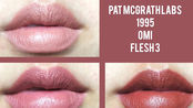 Pat Mcgrath迷你口红套装试色 1995 omi flesh 3